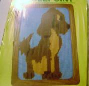 Vintage 1982 MH Yarns Needlepoint Dog 13cm X 18cm