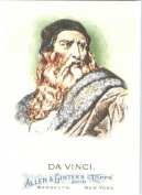 2010 Topps Allen & Ginter Baseball Card # 78 Leonardo da Vinci - Artist & Scientist - MLB Trading Card in Screwdown Case