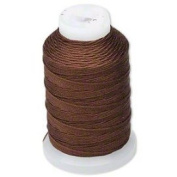 Simply Silk Beading Thread Cord Size FF Chestnut 0.015 Inch 0.38mm Spool 115 Yards for Stringing Weaving Knotting