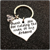 Thank You for Raising the Man of My Dreams Keychain,gift for Mother in Law,mothers' Day Gift