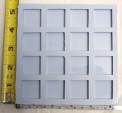 Reusable silicone mould 2.5cm square 16 cavity