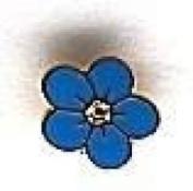 D9953 Masonic Forget-Me-Not Lapel Pin 0.6cm