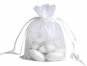 100pcs White Organza Drawstring Pouches Jewellery Party Wedding Favour Gift Bags 10cm x 13cm