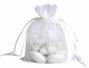 100pcs White Organza Drawstring Pouches Jewellery Party Wedding Favour Gift Bags 10cm x 13cm
