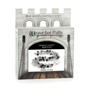 Weave Got Maille Shaggy Loops Chain Maille Bracelet Kit, Shades of Grey