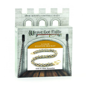 Weave Got Maille 2-Colour Byzantine Chain Maille Bracelet Kit, Gold and Silver