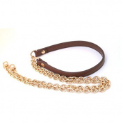 Brown Messenger Bag Straps Chains Metal Handbag Purse Clutch Chains Width 1.2cm Total Length 130cm