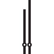 Black Straight Clock Hands