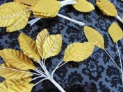 144pc Poly Silk Leaves with 11cm Wire Stem