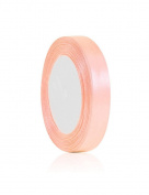 Zacoo Solid Satin Ribbon 25 yards roll Peach