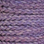 Natural Violet Flat Braided Cord - 5mm x 2m