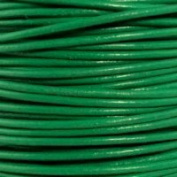 "Light Green Round Leather Cord 3mm (1/8"") x 10 metres"