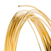 24 Gauge Round Gold Tone Brass Craft Wire - 18m