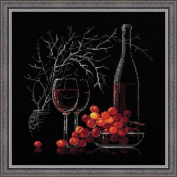 Riolis R1239 Counted Cross Stitch Kit with Red Wine, 30cm by 30cm , Still Life