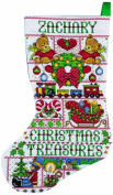Tobin Christmas Treasures Stocking Counted Cross Stitch Kit, 43cm Long, 14 Count