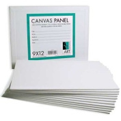 Pre-primed Canvas Panels ~20cm x 25cm Boards ~Lot of 6 [Office Product]