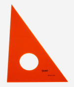 QUINT Premium Professional Fluorescent Orange Acrylic Triangle 1.3cm - 15cm