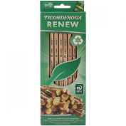 Dixon Ticonderoga Renew Recycled Number 2 Pencils, Natural, 10-Pack