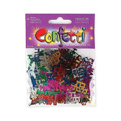 Multicoloured Bat Mitzvah Confetti Decorations in Hebrew and English