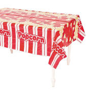 Plastic Popcorn Table Cover - 140cm x 270cm