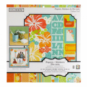 Caribbean Coral 12x12 Scrap Pack // Colorbok