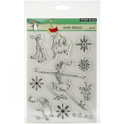 Penny Black Decorative Rubber Stamps, Snow Dancer