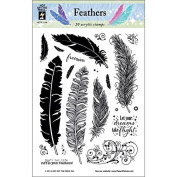 Hot Off The Press Acrylic Stamps, 15cm by 20cm , Feathers