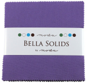 Bella Solids Hyacinth Charm Pack 42 Squares 13cm Moda Fabrics 9900PP 93