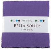 Bella Solids Hyacinth Charm Pack 42 Squares 13cm Moda Fabrics 9900PP 93