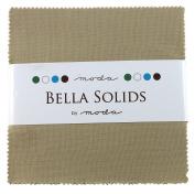 Bella Solids Tan Charm Pack 42 Squares 13cm Moda Fabrics 9900PP 13