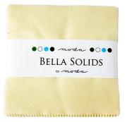 Moda Basics Bella Solids Snow 9900-11 Charm Pack, Set of 42 5-inch (12.7cm) Precut Cotton Fabric Squares