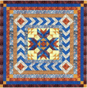 Easy Quilt Kit Crowned Medallion