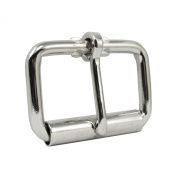 Springfield Leather Company Nickel Plate 4.4cm Roller Buckle