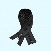 ZipperStop Wholesale Authorised Distributor YKK® 70cm #5 Coil BLACK Separating Zipper