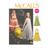 McCall Pattern Company M6736 Children's/Girls' Dresses Sewing Template, Size CHJ