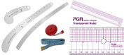 Fashion Ruler Set Fairgate Vary Form Curve French Curve Hip Curve with PGM Pattern Grading Rulers Curve Stick Pattern Design Ruler Set