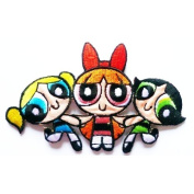 Powerpuff Girls Cartoon Patch Embroidered Iron on Hat Jacket Hoodie Backpack Ideal for Gift /12.2cm(w) X 7.7cm