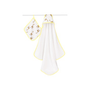 aden + anais Classic Hooded Towel and Washcloth Set, Jungle Jam