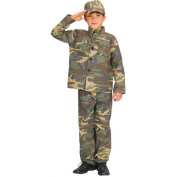 (M) Boys Action Commando Costume for Military Army Soldiers Fancy Dress Kids Childs Medium Age 5-7 years
