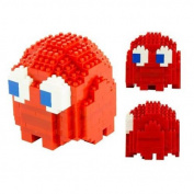 Pac-Man Ghost Pixel Bricks Model