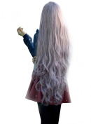 NuoYa005 Womens Lady Long Curly Wavy Hair Full Wigs Cosplay Party Anime Lolita Wig 100cm