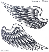 "GGSELL GGSELL tattoo size 21CMx22CM(8.27x8.66"") non toxic and waterproof hot selling fashionable large Angel wings temporary tattoo sticker for women and man"""