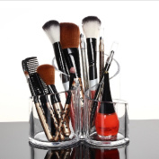 HQdeal Large Wavy Acrylic Makeup Brush Organiser Cosmetic Holder