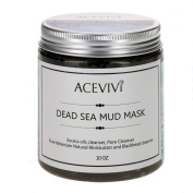 ACEVIVI Natural Dead Sea Mud Facial Mask - Anti-Ageing Treatment For All Skin Types - For Women, Men and Teens - Effective Relief From Acne, Blackheads & Spot Prone Skin - Organic Mud Mask Offers Gentle Facial Exfoliator - Natural Moisturiser and Deep ..