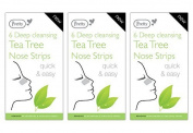 18 Pretty Deep Cleansing Tea Tree Nose Strips (3 Packs of 6) - Removes Blackheads & Unclogs Pores