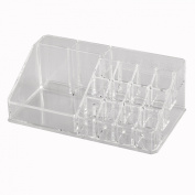 TRIXES Clear Acrylic Desk Cosmetic Makeup Holder Lipstick Nail Varnish Organiser