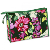 JODA Ladies Pink Purple and Green Flower Travel Cosmetic Toiletry Wash Bag 290-231