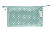 Blue Dotty Large Oilcloth Wash / Cosmetic Bag