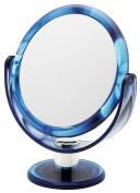 Danielle Creations Swirl Round Vanity Mirror, Blue 17 cm