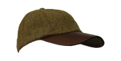 Kids Uni-sex Derby Tweed Baseball Cap LEATHER PEAK Hunting Shooting Countrywear Hat ONE-SIZE